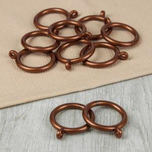 Кольцо для карниза, d = 35/46 мм, 10 шт, цвет бронзовый