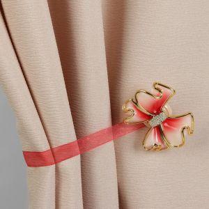 Подхват для штор «Бант», 6 ? 5 см, цвет красный
