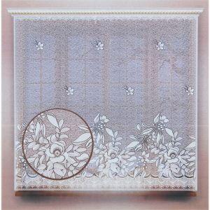 Штора без шторной ленты, ширина 175 см, высота 170 см, цвет белый