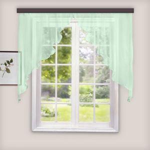 Комплект штор для кухни Дуо 300х140 см, фисташка, 100% п/э   3984488