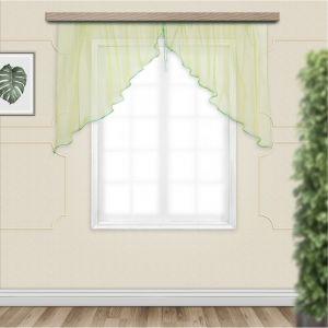 Комплект штор для кухни Дуо 300х120 см, хамелеон желто-зеленый, полиэстер 100%   4530305