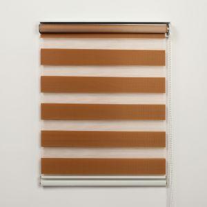 """Штора рулонная 60х180 см """"День-Ночь"""", цвет коричневый"""