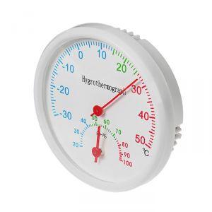 Термометр уличный, гигрометр, d=6.5, белый 1430098
