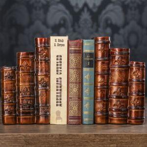 """Держатели для книг """"Собрание сочинений"""" набор 2 штуки 21х12х14 см   3472986"""