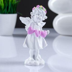 "Фигура ""Ангел с тремя сердцами"" 4,5х5,8х12см   4302462"