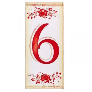 """Цифра дверная из дерева """"6"""", букет, 3*7 см   2190132"""
