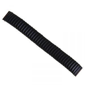 Ремешок для часов 18 мм, металл, протектор звенья объёмные, чёрный хром, 15.5 см 1268534