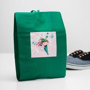 """Мешок для обуви """"Лето""""  Зеленый  4452159"""