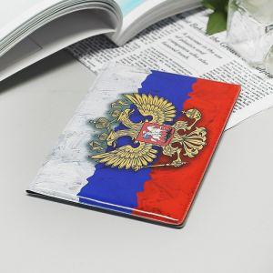 Обложка для паспорта, цвет триколор