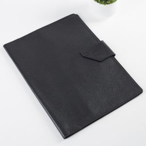 Папка для документов на кнопке, 2 комплекта, цвет чёрный