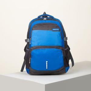Рюкзак туристический, 2 отдела на молниях, 2 наружных кармана, 2 боковых кармана, дышащая спинка, цвет синий