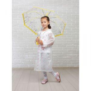 Зонт детский «Зайчата», полуавтоматический, r=45см, цвет жёлтый