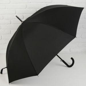 Зонт полуавтоматический «Однотонный», 8 спиц, R = 56 см, цвет чёрный