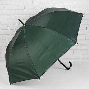 Зонт - трость полуавтоматический «Классика», 8 спиц, R = 58 см, цвет зелёный