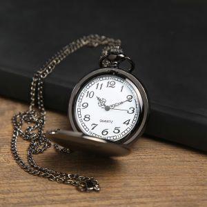 """Часы карманные """"Классика"""", кварцевые, на цепочке, чёрные, d=4.5 см  3572449"""