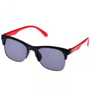 """Очки солнцезащитные детские """"Round"""", оправа двухцветная сверху, линзы чёрные, МИКС, 12.5 см"""