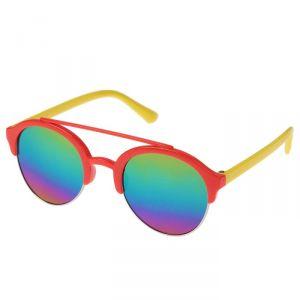 """Очки солнцезащитные детские """"Авиаторы"""", линзы зеркальные, оправа разноцветная, МИКС, 12.5 см"""