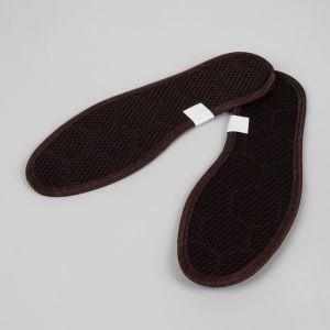 Стельки для обуви, окантовка, 43 р-р, пара, цвет коричневый