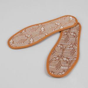 Стельки для обуви «Узор», окантовка, 41 р-р, пара, цвет коричневый