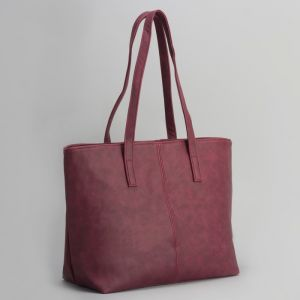 Сумка женская, отдел с перегородкой на молнии, наружный карман, цвет бордовый