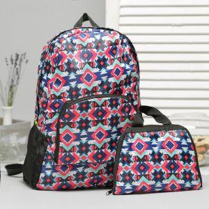 Рюкзак складной, отдел на молнии, наружный карман, 2 боковые сетки, цвет разноцветный