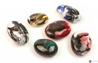 Декоративные керамические камни цветные - 14 шт