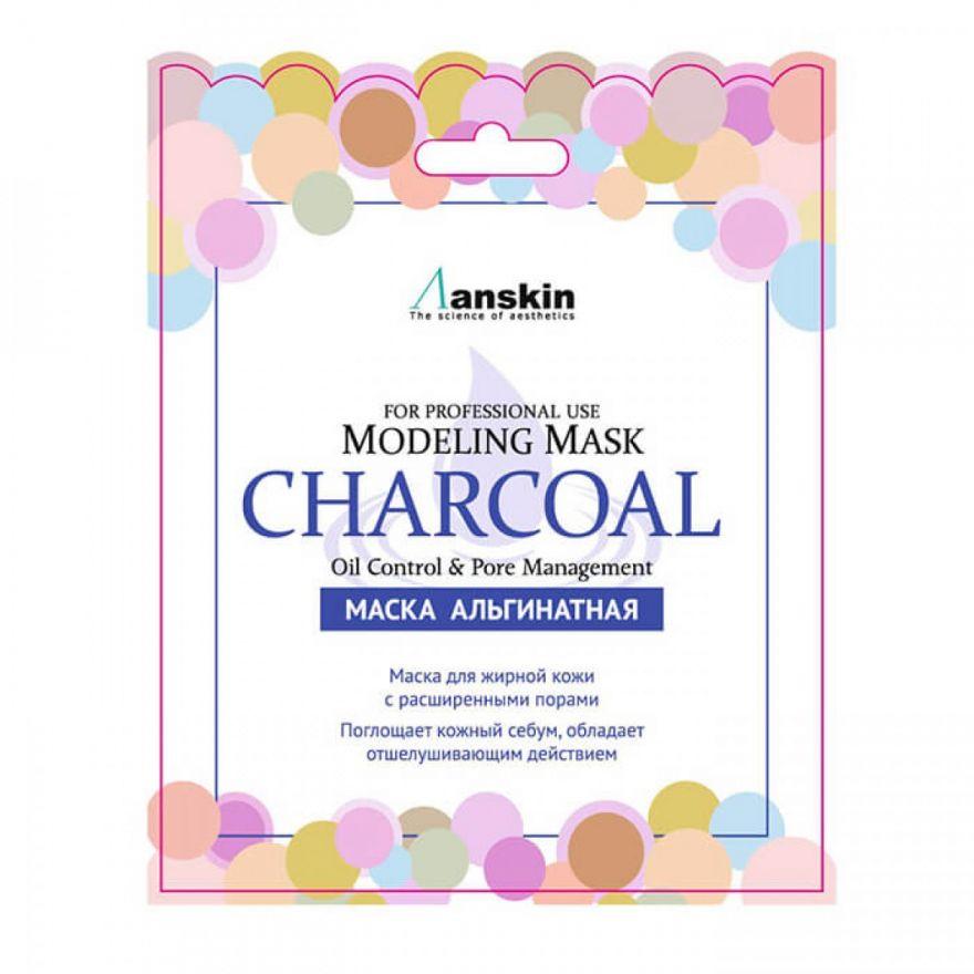 Альгинатная маска с древесным углём для жирной кожи и расширенными порами Anskin Charcoal Modeling Mask