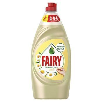 Средство для мытья посуды Fairy Нежные руки ромашка-витамин Е 900мл