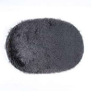 Коврик овальный «Пушистик», 40?60 см, цвет дымчатый