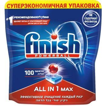 Таблетки для посудомоечных машин Finish Powerball All In 1 max 100шт