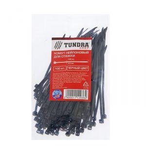 Хомут нейлоновый TUNDRA для стяжки, 2.5 х 100 мм, черный, в упаковке 100 шт. 1112936