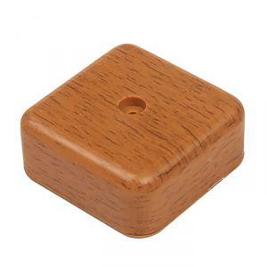Коробка распределительная T-plast, 50х50х20 мм, темный орех, 50.12.002.0003,   3689381