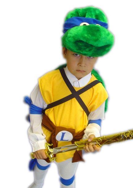 Детский костюм сине-желтой Черепашки Каратиста