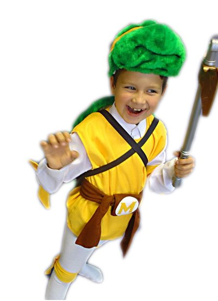 Детский костюм желто-зеленой Черепашки Каратиста