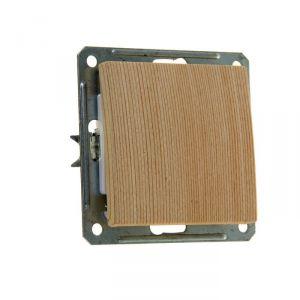 """Выключатель """"W59"""" SchE VS116-154-7-86, 16 А, 1 клавиша, скрытый, цвет сосна 1172601"""