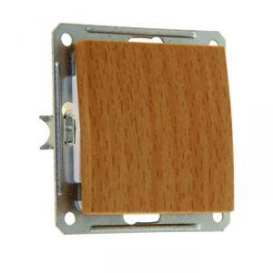 """Выключатель """"W59"""" SchE VS116-154-8-86, 16 А, 1 клавиша, скрытый, цвет бук 1172620"""