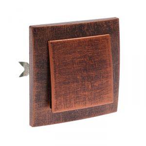 """Выключатель """"Элект"""" VS 16-131-ЧМ, 6 А, 1 клавиша, скрытый, цвет черный под медь 4364446"""