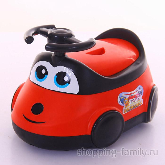 Детский горшок-машинка, красный