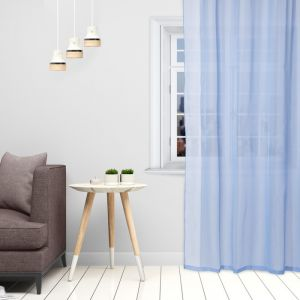 Тюль «Этель» 135?150 см, цвет небесно-голубой, вуаль, 100% п/э