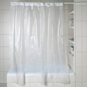 Штора для ванной 3D 180?180, EVA, цвет белый