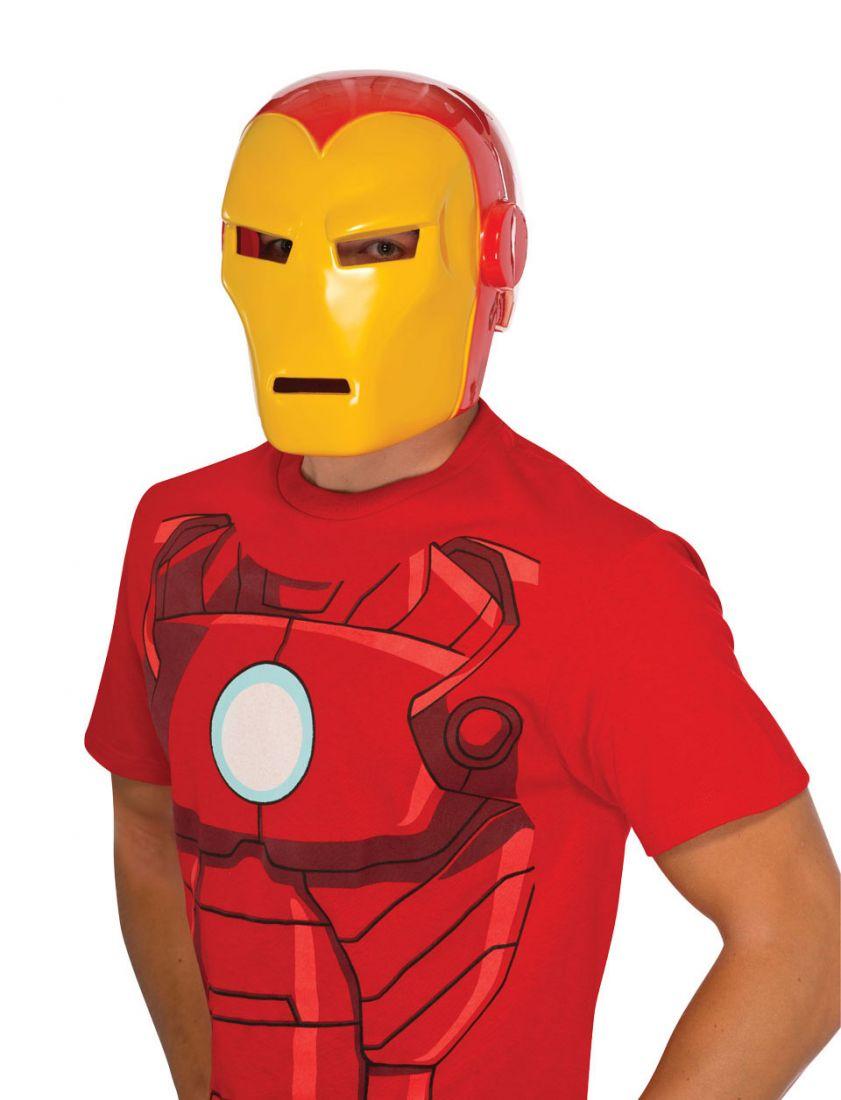 Красно-желтая маска Железного Человека