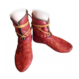 Ботинки Новгород XIII -XIV века с вышивкой
