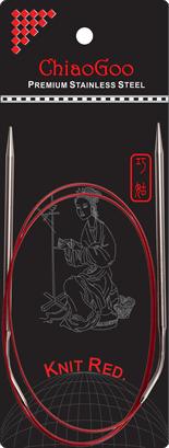 СПИЦЫ КРУГОВЫЕ CHIAOGOO SS KNIT RED (100 СМ)