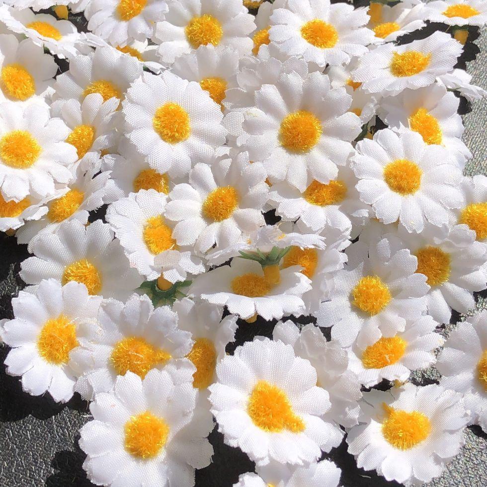 Цветы для декора тканевые Ромашка (AL-01.24)