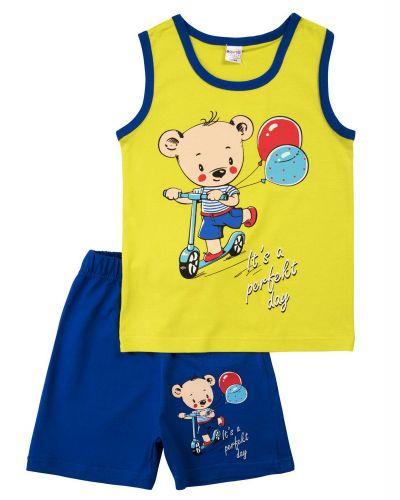 """Костюм для мальчика 2-5 лет Bonito """"Bear racer"""" салатовый"""