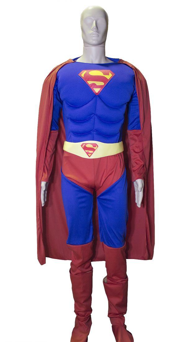 Костюм супермена с мышцами для мужчин