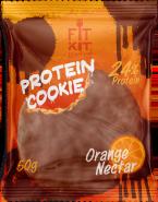 Печенье высокобелковое глазированное Orange-nectar Cookie от Fit Kit 50 гр