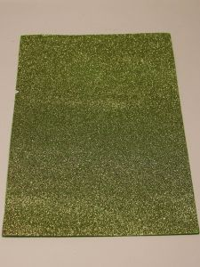 """Фоамиран """"глиттерный"""" Китай, толщина 2 мм, размер 20x30 см, цвет № Ф011 светло-зеленый (1 уп = 10 листов)"""
