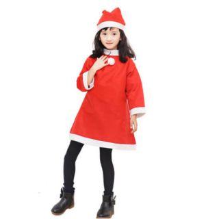 Красный костюм снегурочки для девочки (Возраст 10-13 лет)