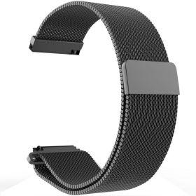 Плетеный ремешок для Amazfit Bip магнитный (черный)